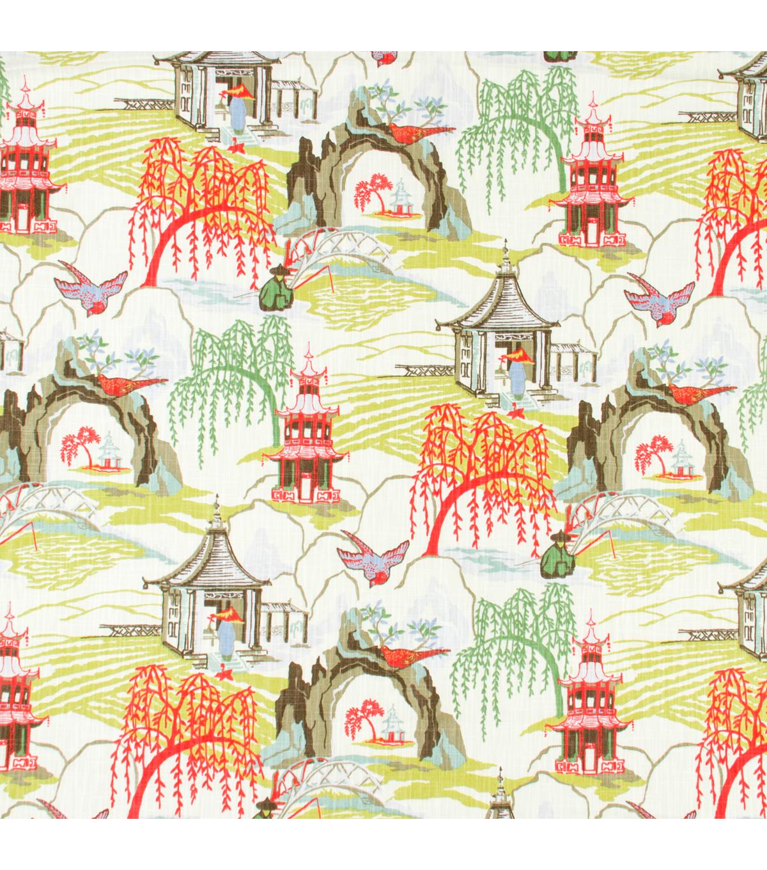 Home Decor Print Fabric Robert Allen Neo Toile Coral