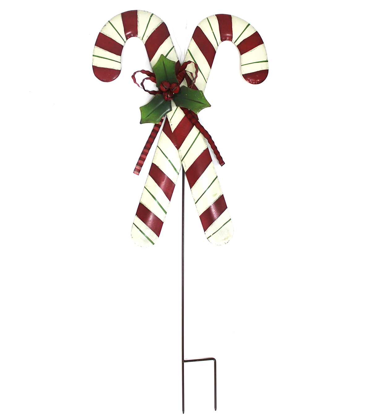 Christmas Crossed Candy Canes Stake