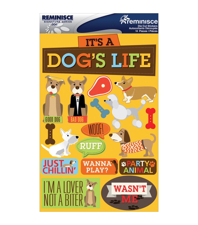 Reminisce Signature Dimensional Stickers Dog