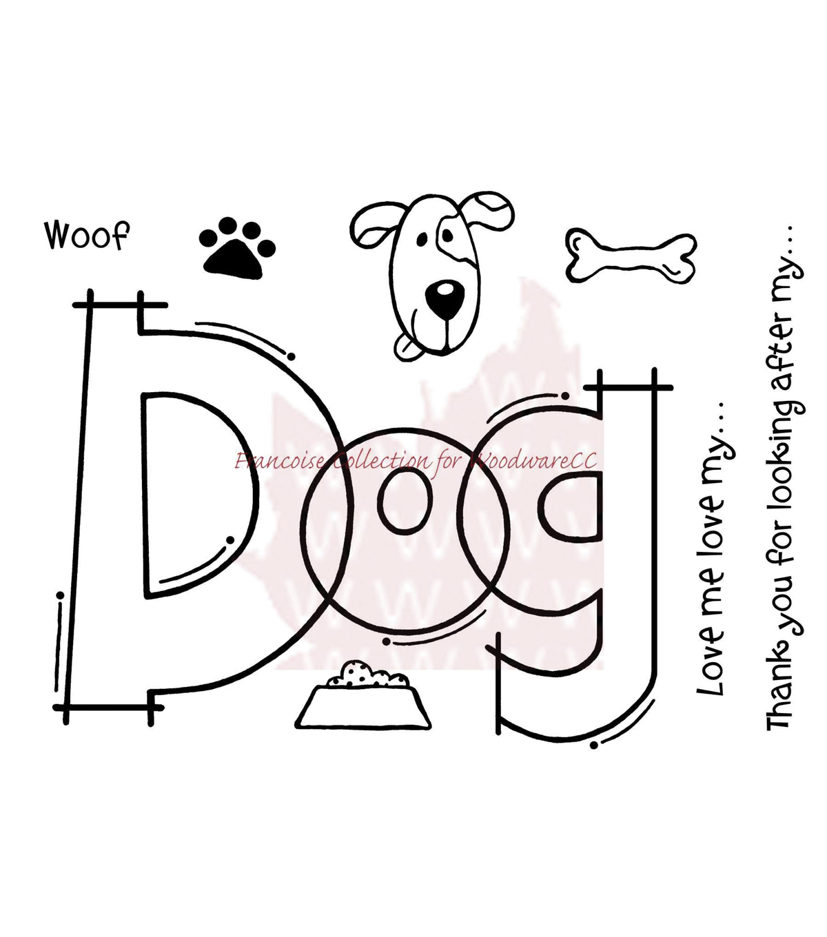 Woodware Clear stamps Huge Dog