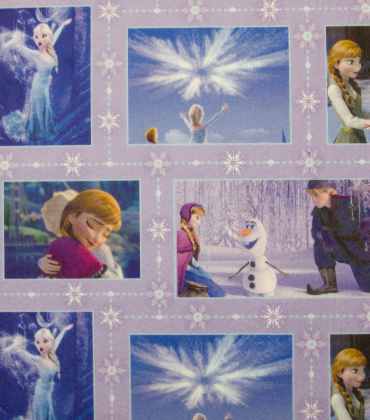 Disney Frozen Movie Patch Sweatshirt Fleece Fabric