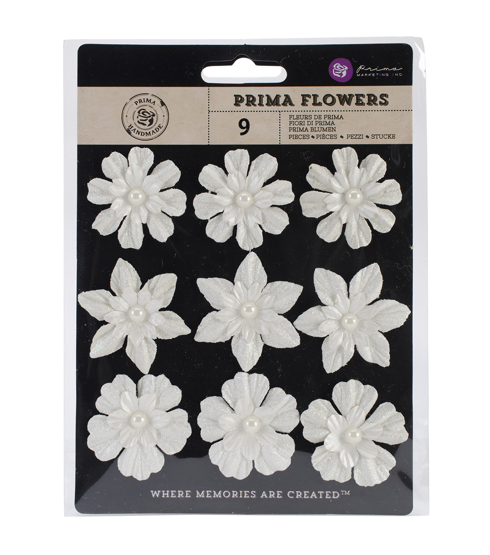 Raelynn paper Flowers W/Pearl-Romantic