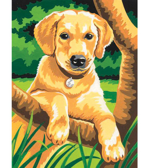 4-1/2''x7'' Mini Paint By Number Kit-Labrador