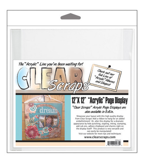 """Clear Scraps 12""""x12"""" Acrylic Page Frame-Clear"""