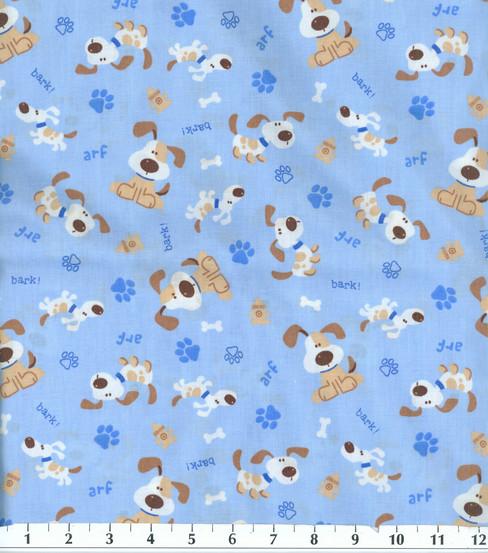 Novelty Cotton Fabric-Dog Bark!