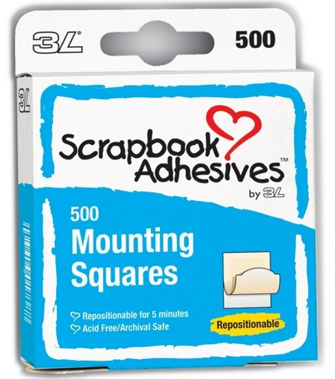 Scrapbook Adhesives Mounting Squares-500PK/Repositional