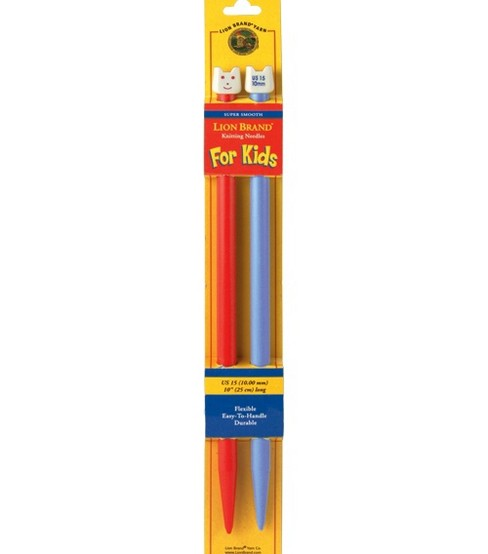 "Lion Brand 10"" Knitting Needles For Kids-Size 15"