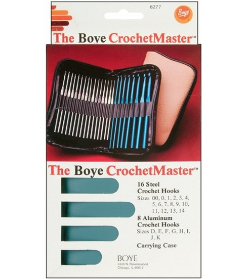 Boye Crochet Master Set Steel And Aluminum