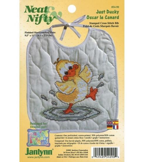 Janlynn Just Ducky Bib Stmpd X-Stitch Kit