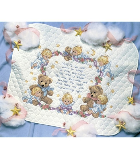 Dimensions Quilt Stamped Cross Stitch Kit Nighttime Prayers