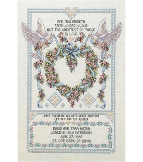 Janlynn Platinum Collection  Wedding Doves Cntd X-Stitch Kit