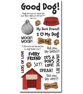 Dog Phrases Clear Sticker