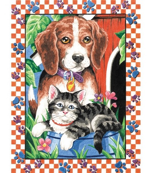 Pencil By Number Kit 9X12-Animal Pets