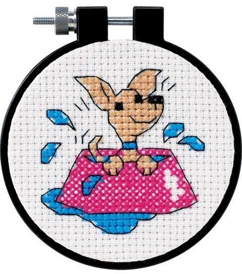 Learn-A-Craft Perky Puppy Cntd X-Stitch Kit