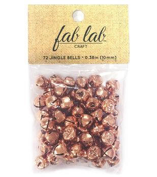 Fab Lab Craft 72 pk 0.38'' Jingle Bells-Copper