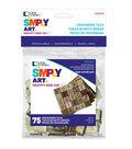 Loew Cornell Simply Art 75 pk 0.75\u0027\u0027 Wood Crossword Tiles