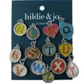 hildie & jo 13 Pack N thru Z Letter Charms-Silver