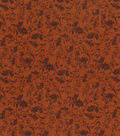 Harvest Cotton Fabric 43\u0022-Leaves And Vines On Brown