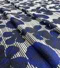 Brocade Floral Fabric-Stripe