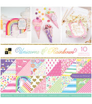 DCWV Unicorns & Rainbows 36 pk 12''x12'' Cardstock Stack, , hi-res