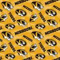 University of Missouri Tigers Cotton Fabric-Tone on Tone