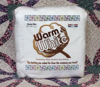 The Warm Company Warm & White Queen Cotton Batting