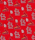 St. Louis Cardinals Cotton Fabric 58\u0022-Glitter