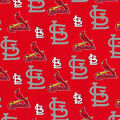 St. Louis Cardinals Cotton Fabric -Glitter