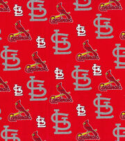 St. Louis Cardinals Cotton Fabric -Glitter, , hi-res