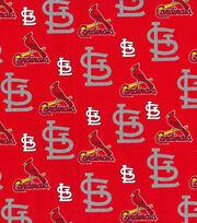 St. Louis Cardinals Cotton Fabric -Glitter, , hi-res