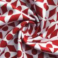 Knit Prints Pima Cotton-Red White Dots & Diamonds