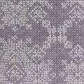 Christmas Anti-Pill Plush Fleece Fabric-Ivory Snowflakes on Vail Gray