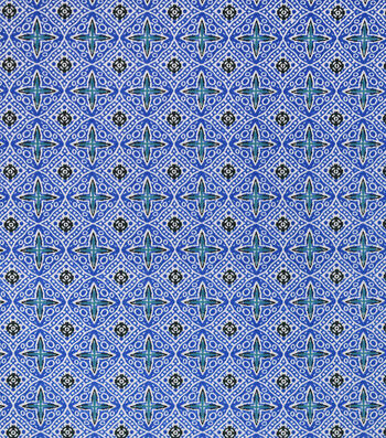 Sportswear Apparel Stretch Twill Fabric 57''-Blue Boho Diamond