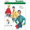 Simplicity Pattern 1319R5 14-16-18-2-Misses Jackets Coats