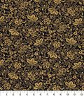 Asian Inspired Cotton Fabric 44\u0022-Packed Floral Purple Met