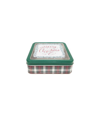 Maker's Holiday Small Square Cookie Container with Clear Top