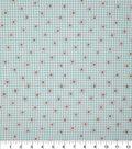 Keepsake Calico Cotton Fabric-Seafoam Gingham Daisy