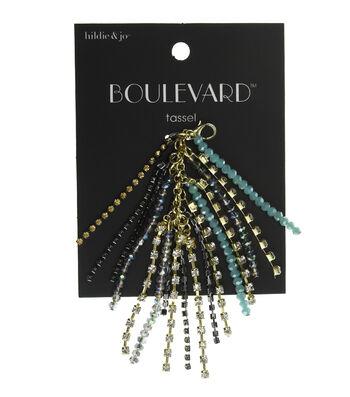 hildie & jo Boulevard 3'' Tassel Gold Strands-Beads