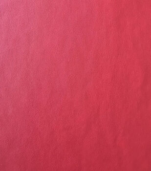 """Holiday Shine Suede Back Faux Leather Fabric 56""""-Red"""