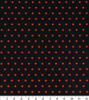 Halloween Cotton Fabric-Halloween Orange Dots on Black