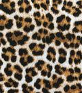 Silky Crinkle Rayon Fabric-Ivory Black Cheetah