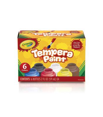 Crayola Tempera Paint Set 2oz 6/Pkg-