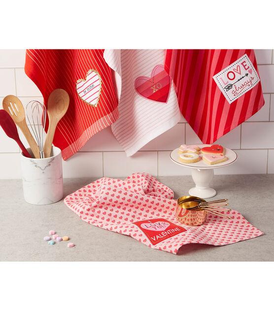 Design Imports Kitchen Towel Set Valentines, , hi-res, image 3