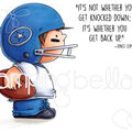 Stamping Bella 2 pk Rubber Cling Stamps-Football Squidgy
