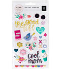 Oh My Heart Puffy Stickers-Icons & Phrases