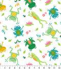 Snuggle Flannel Fabirc-Leap Frog