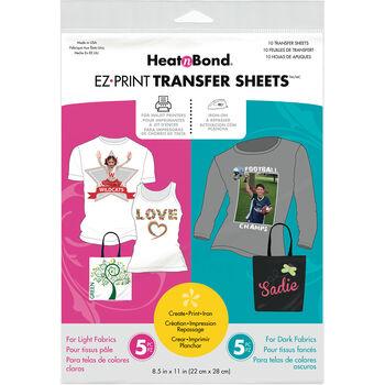 "HeatnBond EZ Print Transfer Sheet Combo -8.5""X11"" 10/Pkg"