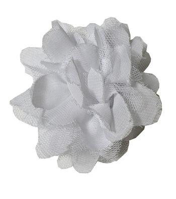Sheer Tulle Flower White