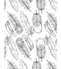 Artist Series Printed & Clear Shrink Film-Feathers