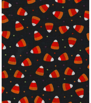 Holiday Showcase Halloween Cotton Fabric -Candy Corn Dot